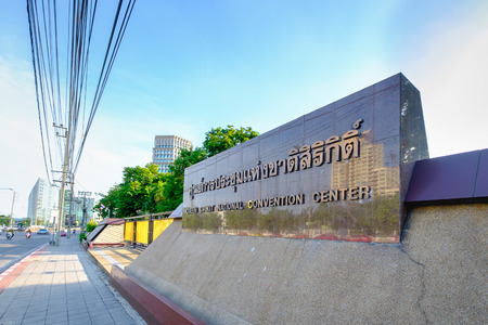 Bangkok, Thailand - June 6, 2016: Queen Sirikit National Convention Center in Bangkok, Thailand. It is a convention center and exhibition hall located in Bangkok, Thailand Editorial