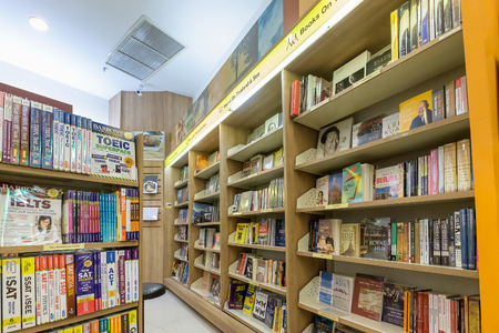 Bangkok Thailand - June 25, 2016: Inside of Asia Books in CentralPlaza Rama 9, The biggest international online bookstore in Thailand.