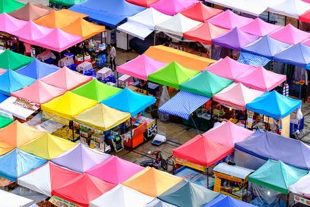 Bangkok, Thailand - June 17, 2016: Night market train a second-hand market, back of Esplanade Ratchadapisek Department store