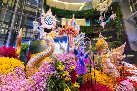 paragon: Bangkok, Thailand - June 9, 2016: Orchid Paradise Festival at Siam Paragon, The shopping mall Bangkok Thailand.