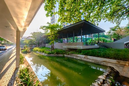 by cu: Bangkok, Thailand - May 12, 2016: Chakkrabhong square C.U. at Chulalongkorn University, Bangkok Thailand.