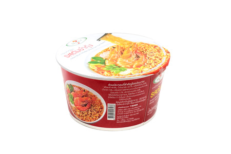 public company: Bangkok, Thailand -June 4, 2016: Mama Rice Vermicelli Clear Soup, instant noodles. Produce by Thai President Foods Public Company Limited since February 15, 1972. Mama is a popular brand in Thailand. Editorial