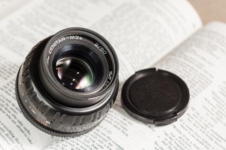 Bangkok, Thailand - October 4, 2014: Zenitar old film camera manual focus lens