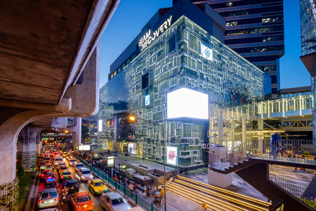 paragon: Bangkok, Thailand -  June 9, 2016: New Siam Discovery department store after renovated in new interior design. It is The new largest shopping mall in the center of Bangkok. shopping mall in Thailand. Editorial