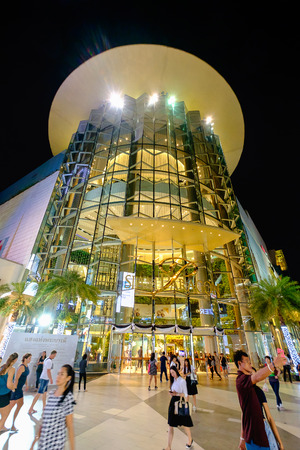 upscale: Bangkok, Thailand - November 28, 2016: Shoppers visit Siam Paragon mall in Siam Square mall on in Bangkok, Thailand. With 300,000 m 2 of retail space Siam Paragon is one of the largest malls in the world.