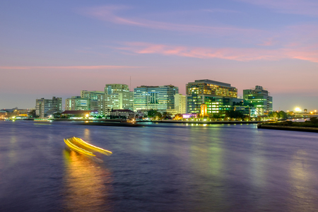 Bangkok, Thailand - March 4, 2016: Siriraj Hospital on the Chao Phraya River, one of the oldest and the most famous hospital in Thailand, it was founded since 1888.