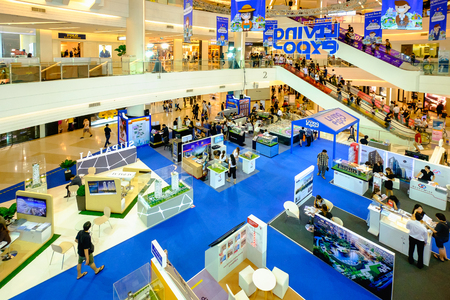 Bangkok, Thailand - August 18, 2017: Living Expo 2017 about house and condo, By Think of Living website group 新聞圖片