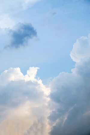 Background of soft clouds in blue sky Stock Photo