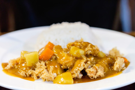 Close up, curry rice