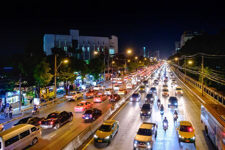 Bangkok, Thailand - September 27, 2017: Rush Hour in Bangkok Centre