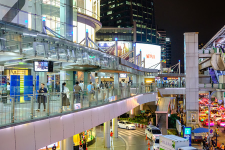 Bangkok, Thailand - November 21, 2017: Terminal 21 is a shopping mall that connects Bangkok Sky train and the Subway together