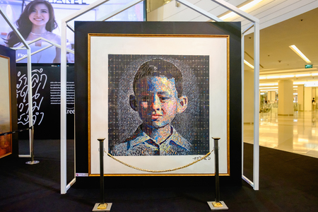 Bangkok, Thailand - May 10, 2017: In our eternal memory Event, present King Rama 9 photo by Areeya Property at Fashion Hall floor 1, Siam Paragon Editorial