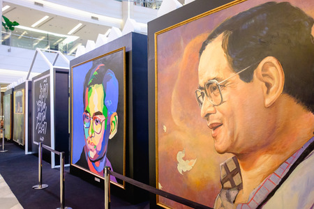 Bangkok, Thailand - May 10, 2017: In our eternal memory Event, present King Rama 9 photo by Areeya Property at Fashion Hall floor 1, Siam Paragon Stock Photo