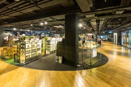 Bangkok, Thailand - August 17, 2018: Siam Center Shopping Mall in Bangkok, Thailand. Siam Center is one of the most popular shopping centers in Siam Area. Redakční