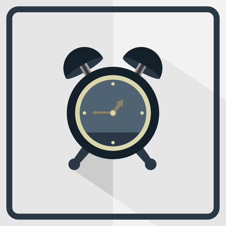 Alarm clock icon, Time icon vector. Flat design Illustration