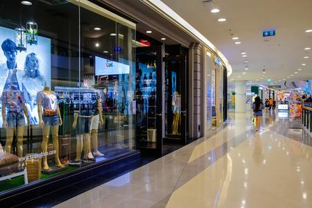 Bangkok Thailand - March 7, 2019: CentralPlaza Rama 9, the most recent addition of CentralPlaza brand in Bangkok.