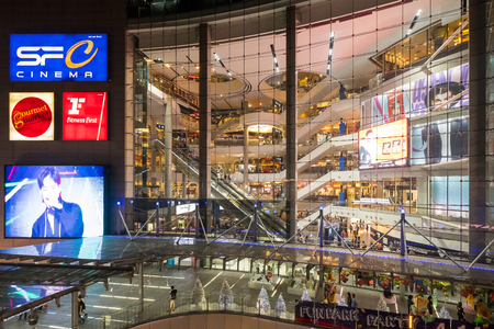 Bangkok, Thailand - January 7, 2019: The interior architecture of the Terminal 21 Shopping Mal in Bangkok, Thailand.