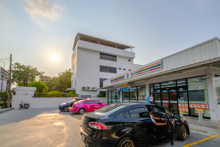 Bangkok, Thailand - March 24, 2019: 7-Eleven is world's largest operator, franchisor and licensor of convenience stores, with more than 46,000 shops.