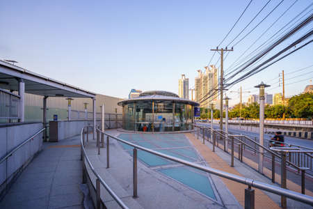 Bangkok, Thailand - November 19, 2017: Queen Sirikit National Convention Centre MRT Station