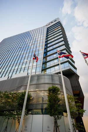 Bangkok, Thailand - November 17, 2020: The PARQ, a mixed-use building in downtown area.