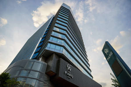Bangkok, Thailand - November 24, 2020: The PARQ, a mixed-use building in downtown area.