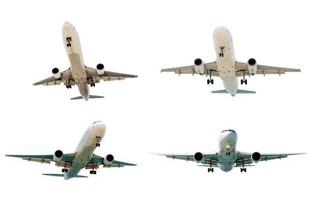 strips away: Set of airplanes isolated on white background Stock Photo