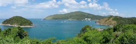 Beautiful panorama landscape view mountain and andaman sea