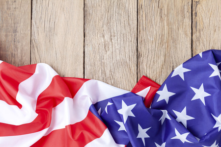 American flags on old wood for background,image for 4th of july independence day,Presidents Day,Martin Luther King Day.