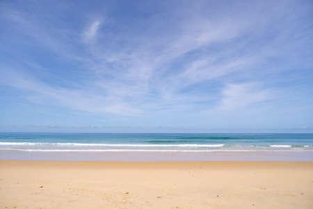 Beautiful sandy beach and tropical sea in summer season