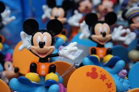 Mickey Mouse beeldjes in Disneyland Hong Kong