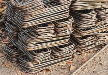 reinforcing: Stock reinforcing steel