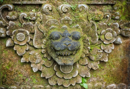 Bali stone sculpture Stock Photo