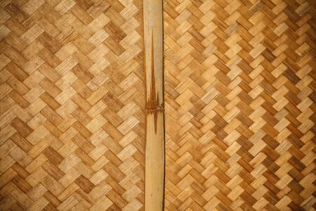 Texture surface of native thai style bamboo wall photo