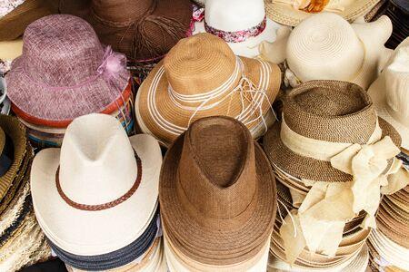 headgear: Woven hats