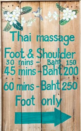 Thai massage board Imagens