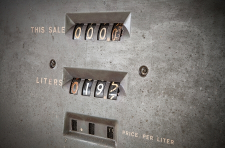 Old gas station meter  photo