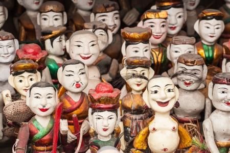 Vietnam wooden figurine Imagens