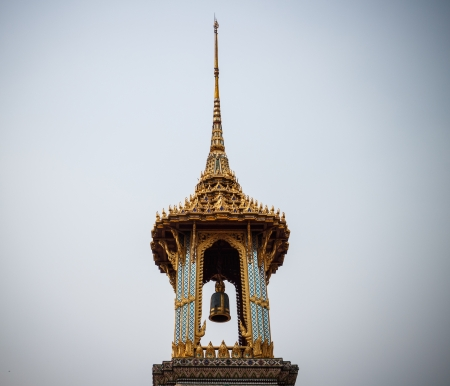 golden belfry in Thai style photo