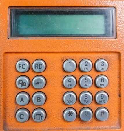 dialing pad: Public telephone keypad