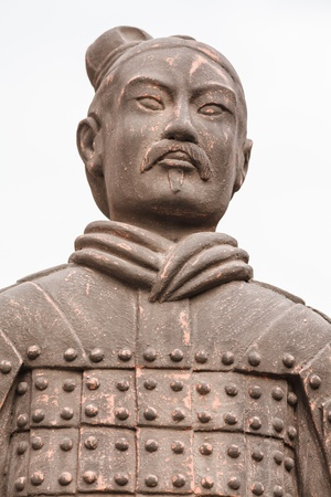 Chinese Warrior Statues Editorial