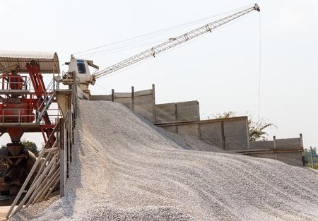 Stationary Concrete Batching Plant Stock Photo