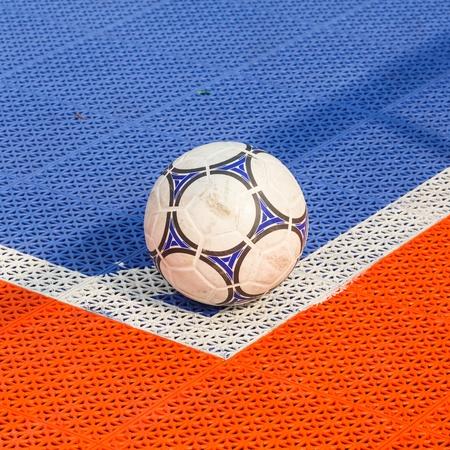 futsal: Corner Futsal field Stock Photo