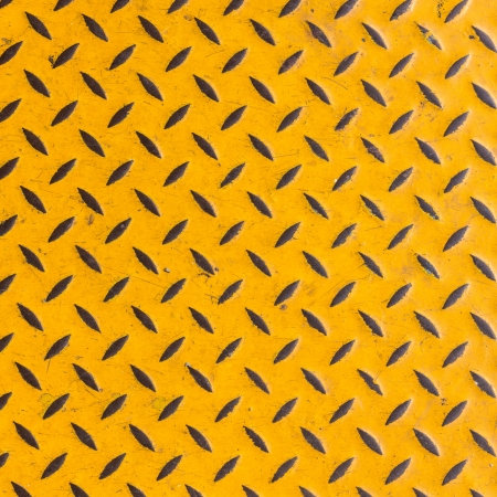 Yellow diamond steel plate photo