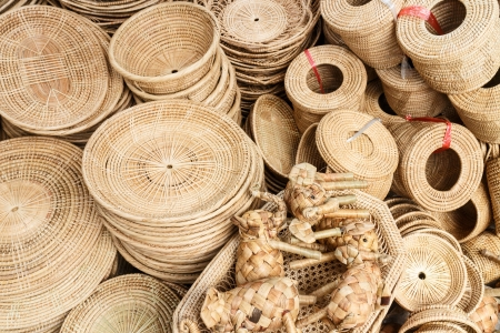 wickerwork: Hand crafted wicker product
