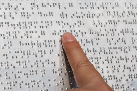 braille: One Finger Reading Braille