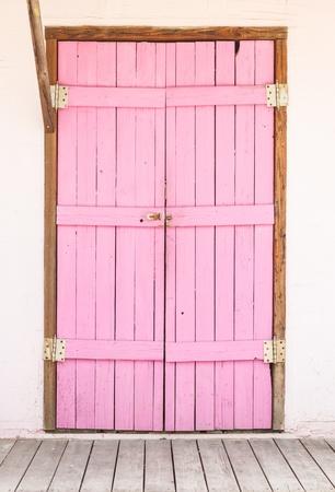 entranceway: Wooden Pink Door