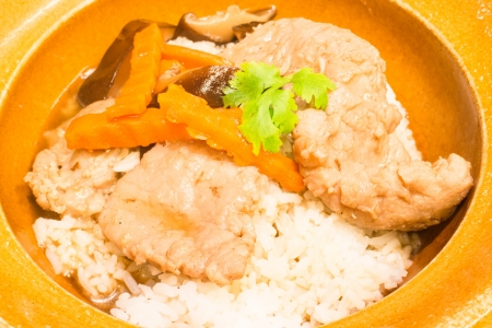 beef in oyster sauce with rice photo