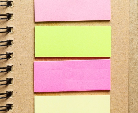 colorful paper on notebook photo