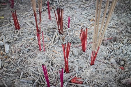 joss: Burning incense joss sticks Stock Photo