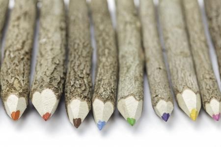 Houten schors kleurpotloden